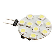 G4 10x5050 SMD 120LM White Light Bulb for Car Lamps (12V)