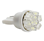 t5 3528 SMD 0.36w 12v 36lm 9-led bianco car lampadina (10pz)