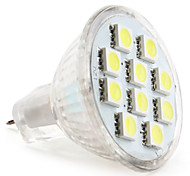 2W GU4(MR11) Focos LED MR11 10 SMD 5050 120 lm Blanco Natural DC 12 V