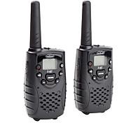 prima de 22 canales de GMRS FRS walkie talkie (rango de 5 kilometros, pack de 2, negro)
