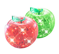 3D Crystal Apple Puzzle with Flash (Random Colors)