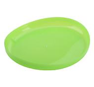 trasparente morbido frisbee giocattolo per i cani (20 x 20 centimetri, verde)