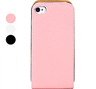 Custodia in pelle PU per iPhone 4 e 4S - Colori assortiti