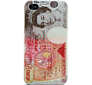 UK Pounds Style PU Leather and Plastic Case for iPhone 4 and 4S