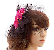 Women's Satin/Tulle Headpiece - Wedding/Special Occasion/Casual/Outdoor Fascinators/Birdcage Veils
