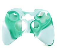 de protección de dos colores Funda de Silicona para mando Xbox 360 (verde y blanco)