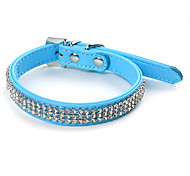 strass simili cuir de style collier de chien (sl, couleurs assorties)