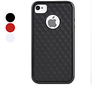 Simple Lattice Pattern Bumper and Case for iPhone 4 and 4S (Assorted Colors)