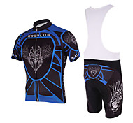 KOOPLUS® Cycling Jersey with Bib Shorts Men's Short Sleeve Bike Breathable / Quick DryJersey + Bib Shorts / Padded Shorts/Chamois /