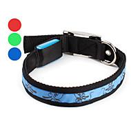 portato cane collare di luce regolabile (40-50cm/15.7-19.7inch, colori assortiti)