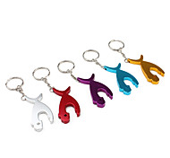 Whale Shaped Aluminum Keychain Bottle Opener