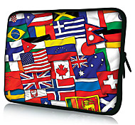 """Flag Collect Neoprene Laptop Sleeve Case for 10-15"""" iPad MacBook Dell HP Acer Samsung"""