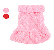 Dog Coat Red / Pink Dog Clothes Spring/Fall Floral / Botanical