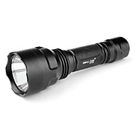 LED Flashlights / Handheld Flashlights LED 5 Mode 240 Lumens Cree XR-E Q5 18650 SmallSun , Black Aluminum alloy