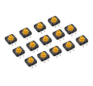20 Pieces 12 x 12 x 7.3mm Tactile Push Button Switch DIY