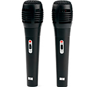Pair of Karaoke USB Microphones for Wii, PS3, Xbox 360 and PC (Retail Box, Black)