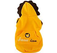 di semi di girasole style coat leone per i cani (XS-XL, giallo)