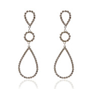 Unique 18K Gold Plated Crystal Fashion Earrings