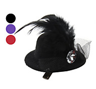Elizabeth's Style Lady Hat Hairpin Hair Clip for Dogs Cats (Assorted Colors)