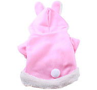 Dog Hoodie Pink Winter Animal