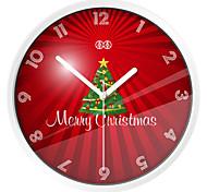 Merry Christmas Metal Wall Clock
