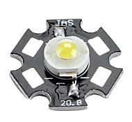 Epistar 6000-6500k 1W 100-110LM 350mAh White LED Light Bulb with Aluminum Plate (3.0-3.4V)