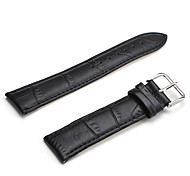Unisex Genuine Leather Watch Strap 22MM(Black)