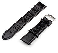 Unisex Genuine Leather Watch Strap 22MM (Brown)