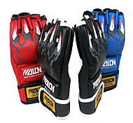 Leather Short Finger Boxing Gloves (Average Size)