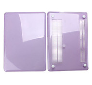 """Case for Macbook Pro 13.3"""" Solid Color Plastic Material Protective Crystal Case Purple"""