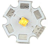 diy cree 5w 356lm 2800-3200k luz branca quente levou emissor com hexágono base de alumínio (3.2-3.6V)