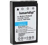 ismartdigi bateria de substituição bls-5 para Olympus E-PL2