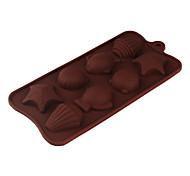 силиконовой оболочке рыбы звезды рыбы формы формы Сахарные для конфет / печенья / желе / шоколад