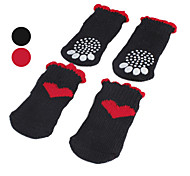 Socks & Boots for Dogs Red Shoes / Black Spring/Fall Cotton