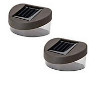 Solar Warm Yellow  Light Deck And Fence Wall Mount Lamp (2-Pack)
