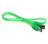 esata cable transparente verde (0,5 m)