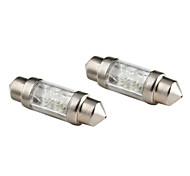 31 milímetros 0.2W 4 liderada lâmpada de luz branca festão para leitura carro / lâmpadas tronco / placa de licença (2-pack, 12V DC)