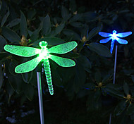 Solar Color Changing Dragonfly Style Garden Stake Light