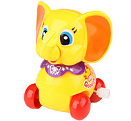 Educational Smiling Little Elephant Clockwork Toys for Kids (Yellow)