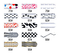 16 PCS entiers de couleur Nail Stickers Nail Art