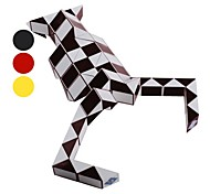 Plastic Magic Cube Puzzle 2 x 48 Parts Lobster Shape Toy (Random Color)