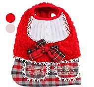 Woolen Cloth Dress with Scottish Plaid Skirt for Dogs (XS-XL, Assorted Colors)