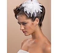 Wedding Veil One-tier Blusher Veils / Birdcage Veils Cut Edge 11.81 in (30cm) Tulle