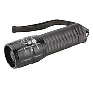 3-Mode Aluminum Alloy LED Flashlight (3xAAA, Black)