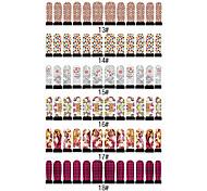 12PCS Nail Stickers Nail Art Six Pattern, choisissez