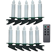 Multifunction Remote Control Christmas Led Candle Lamps (10-Pack)
