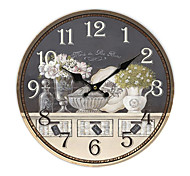 Country Floral Wall Clock