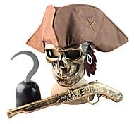 Bronze Pirate Costumes d'Halloween Masque Arme Casque
