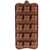 Silicone Dough Twist Shaped Sugarcraft Mold for Candy/Cookie/Jelly/Chocolate