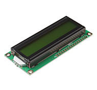 1602A 16 x 2 Lines Black Character LCD Module with Chartreuse Yellow Backlight (DC 5V)